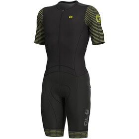 Alé Cycling R-EV1 Fuga SS Unitard Herr black-yellow flou